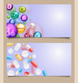 set medical banners with falling pills vector image vector image