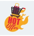 Shopping design Sales and Retail icon Isolated vector image vector image