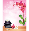 spa orchid pink background