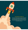 Space rocket launch Start up vector image