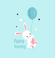 sweet bunny for print design vector image vector image