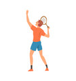 tennis player with tennis racket athlete vector image vector image