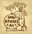 vintage happy st patricks day card or poster vector image vector image