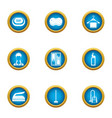 wash away icons set flat style vector image vector image