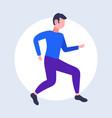 young man dancing guy in sportswear having fun vector image