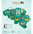 Belgium Travel Infographics vector image
