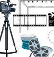 movie gear vector image