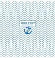 Waves and anchors blue white marine vector image