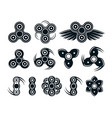 set of hand spinner badges and icons vector image