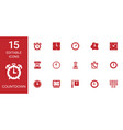 15 countdown icons vector image vector image