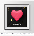 3d heart shape with shadows and highlights vector image