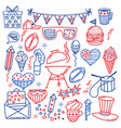 4 july usa independence day icons isolated on vector image vector image