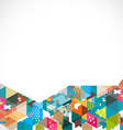 Abstract colorful and creative geometric backgroun vector image vector image