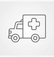 ambulance icon sign symbol vector image
