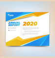 annual report template abstract design with vector image vector image