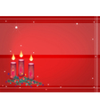 Background of Christmas Candles Decoration on Fir vector image vector image