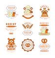 bakery fresh bread logo design vintage bakery vector image