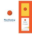 basketball creative logo and business card vector image vector image