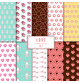 beautiful love pattern background template vol 3 vector image