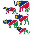 Big Five Namibia vector image vector image