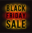 black friday sale signboard vector image