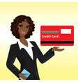 black woman with credit card vector image