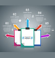 business education office - business infographic vector image