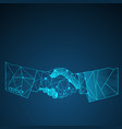 business handshake background vector image