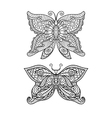 butterfly coloring page vector image vector image