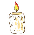 candle drawing on white background vector image vector image