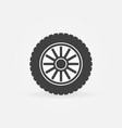 car wheel disc icon or symbol vector image vector image