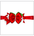 Christmas red bow vector image