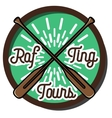 Color vintage rafting emblem vector image vector image
