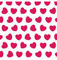colorful silhouette pattern red hearts shape vector image