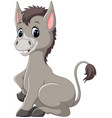 cute baby donkey cartoon vector image vector image