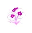 Decorative bouquet purple orchid vector image vector image