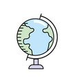 earth planet global map of desk vector image vector image