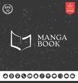 elegant logo with book symbol like brush stroke vector image vector image