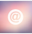 email symbol in flat style icon vector image