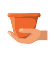 empty gardening pot vector image vector image