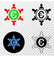 euro people union eps icon with contour vector image vector image