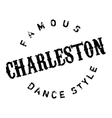 Famous dance style Charleston stamp vector image vector image