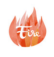 fire symbol of the four elements vector image vector image