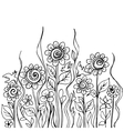 Flower doodles vector image