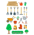 Gardening farming tools and instruments flat vector image