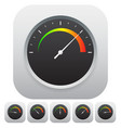 general dial gauge metering vector image vector image