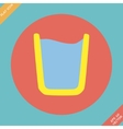 Glass of water icon - Flat vector image