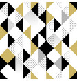 gold black and white seamless triangle pattern vector image vector image