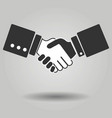 gray hand shake icon on background modern simple vector image vector image