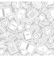 gray stationery pattern vector image vector image